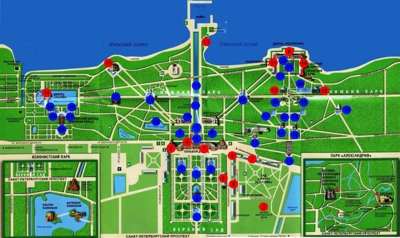 карта петергоф